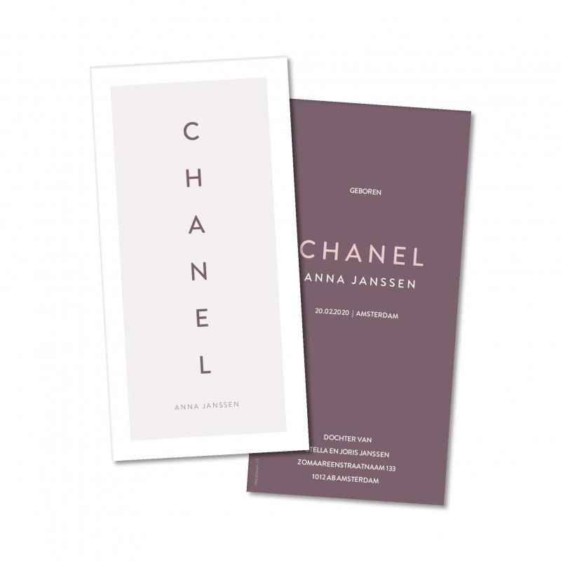 Geboortekaartje Geboortekaartje Chanel