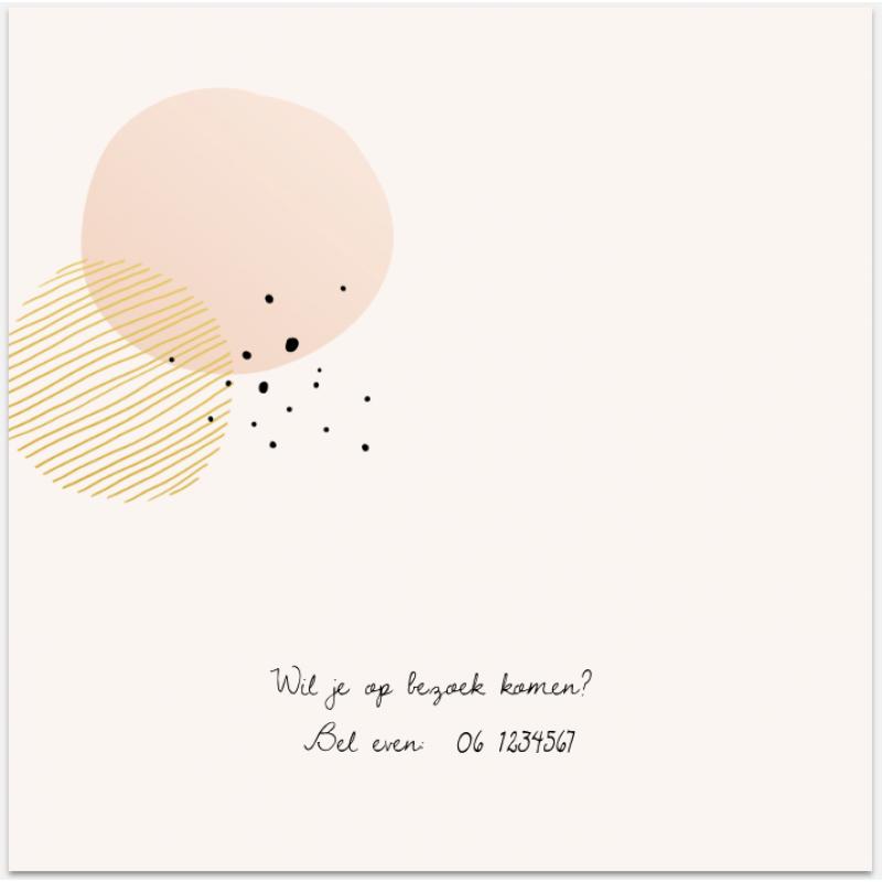 Geboortekaartje Geboortekaartje cirkels