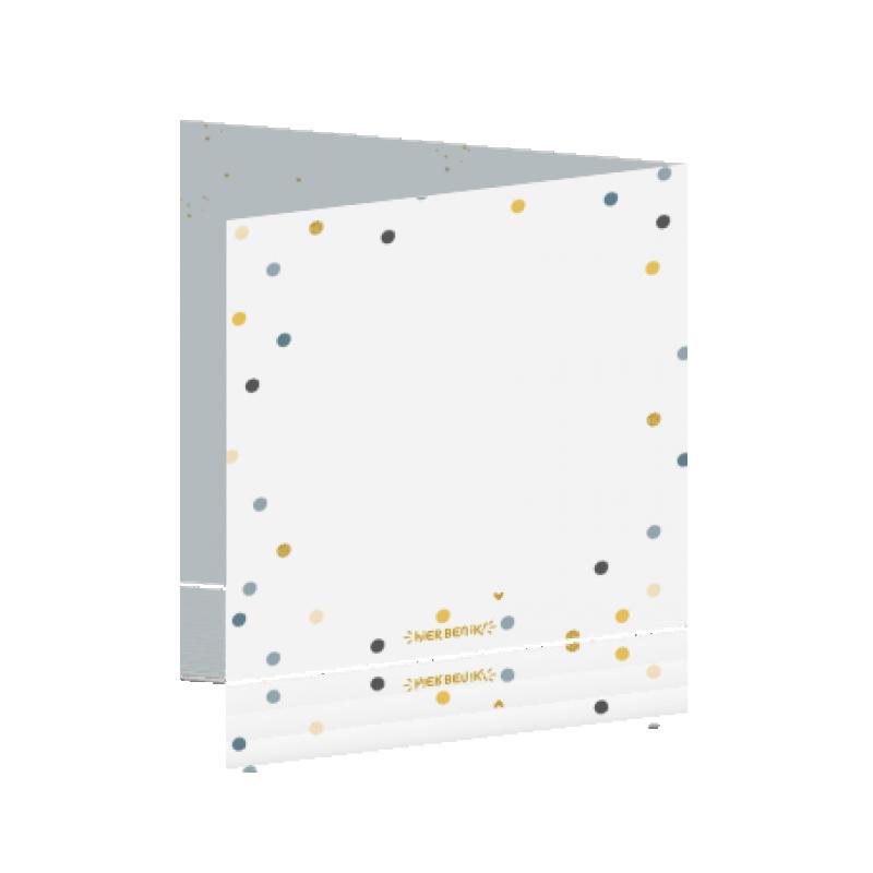 Geboortekaartje Geboortekaartje confetti