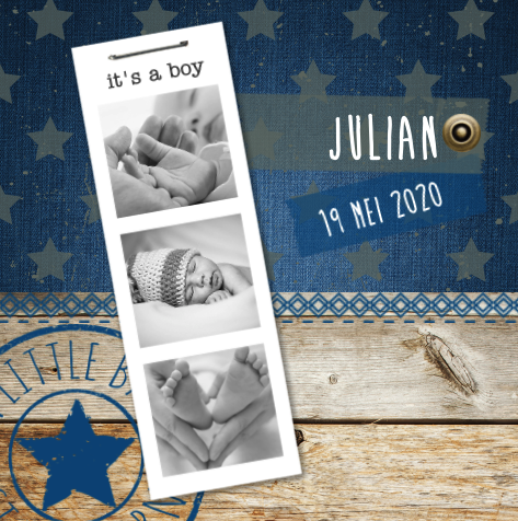 Geboortekaartje Geboortekaartje Fotostrip