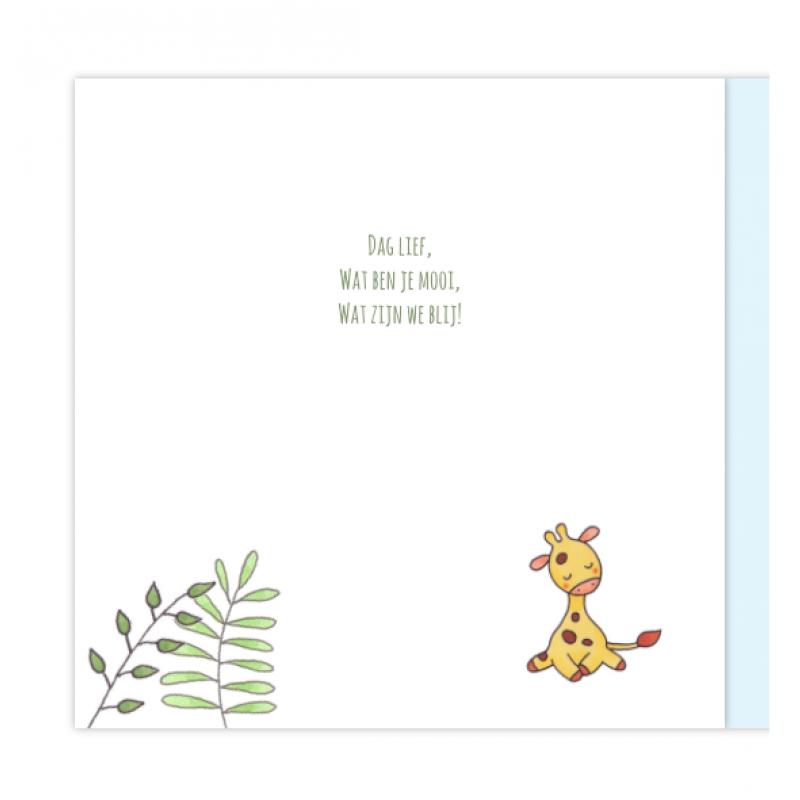 Geboortekaartje Geboortekaartje Giraf