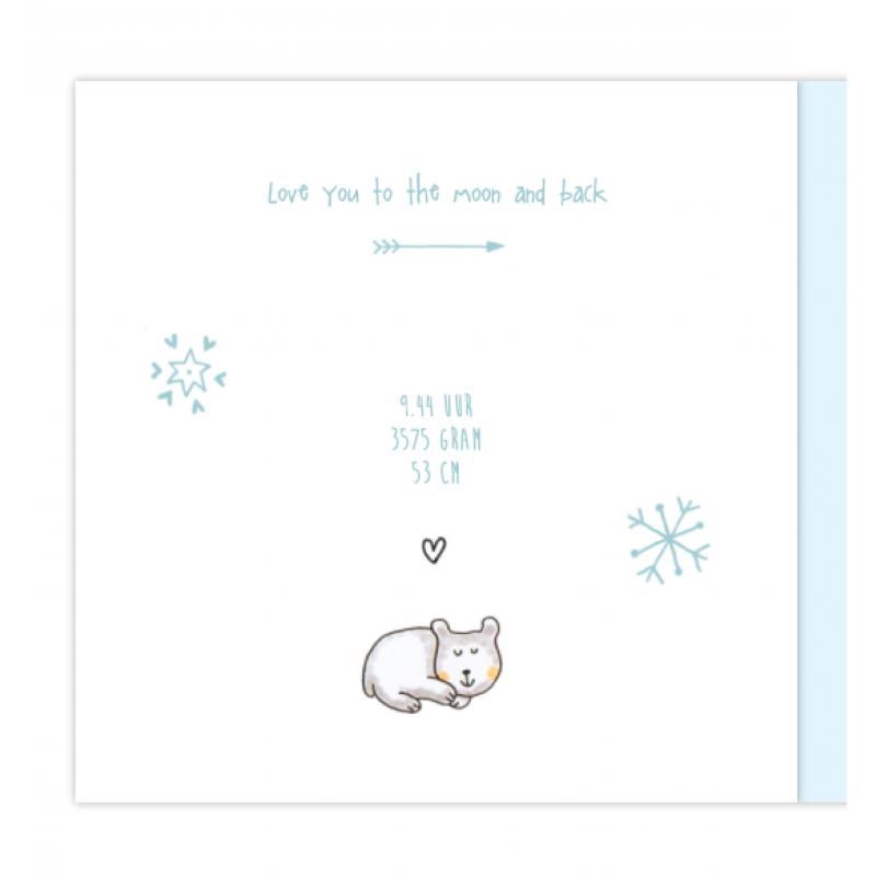 Geboortekaartje Geboortekaartje ijsbeer