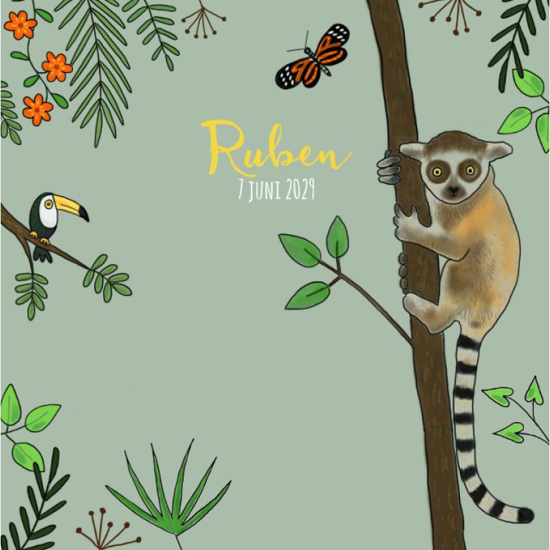Geboortekaartje Geboortekaartje Jungle