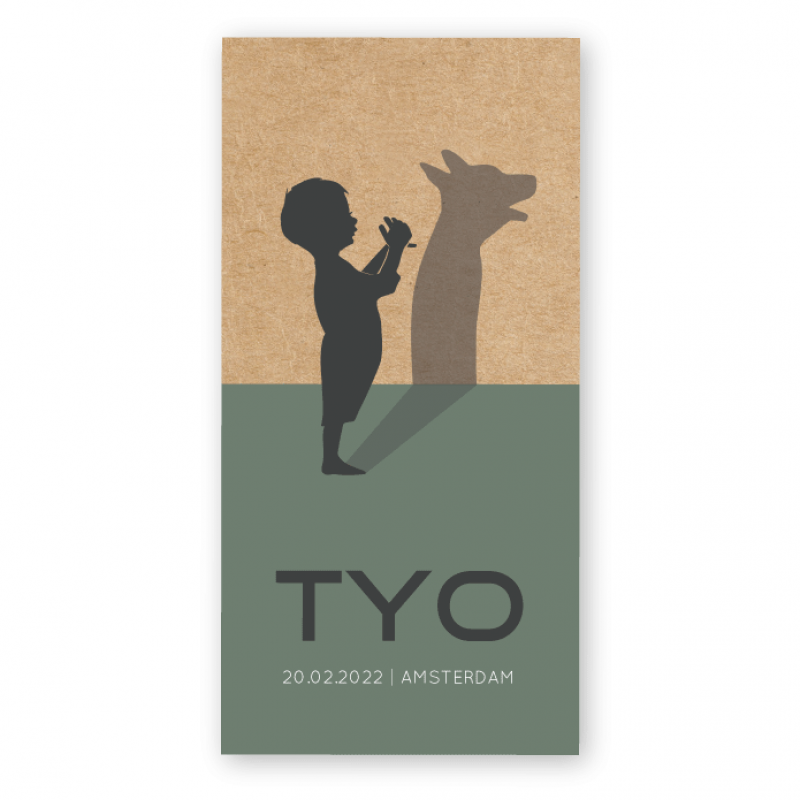 Geboortekaartje Geboortekaartje kraft Tyo