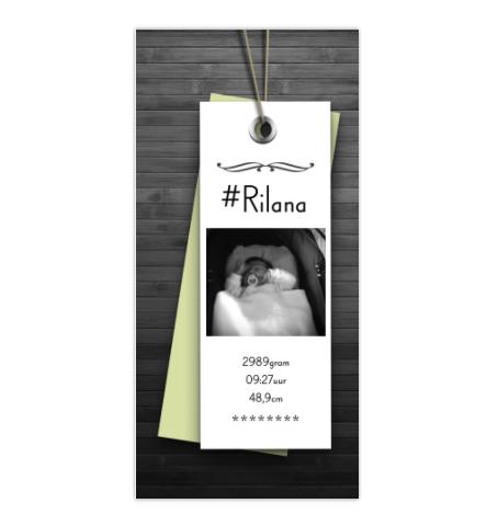 Geboortekaartje Geboortekaartje Label-look
