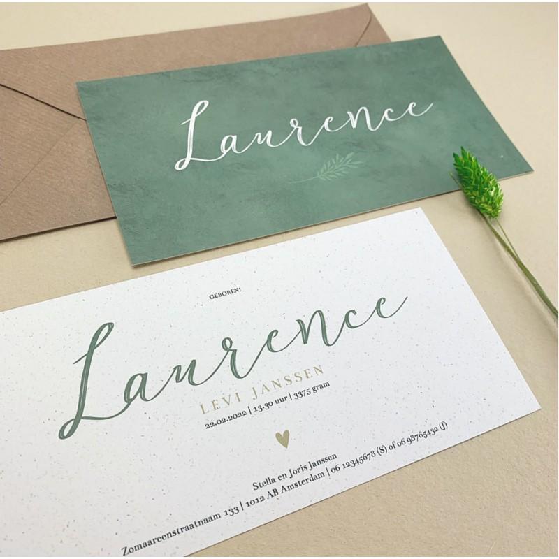 Geboortekaartje Geboortekaartje Laurence