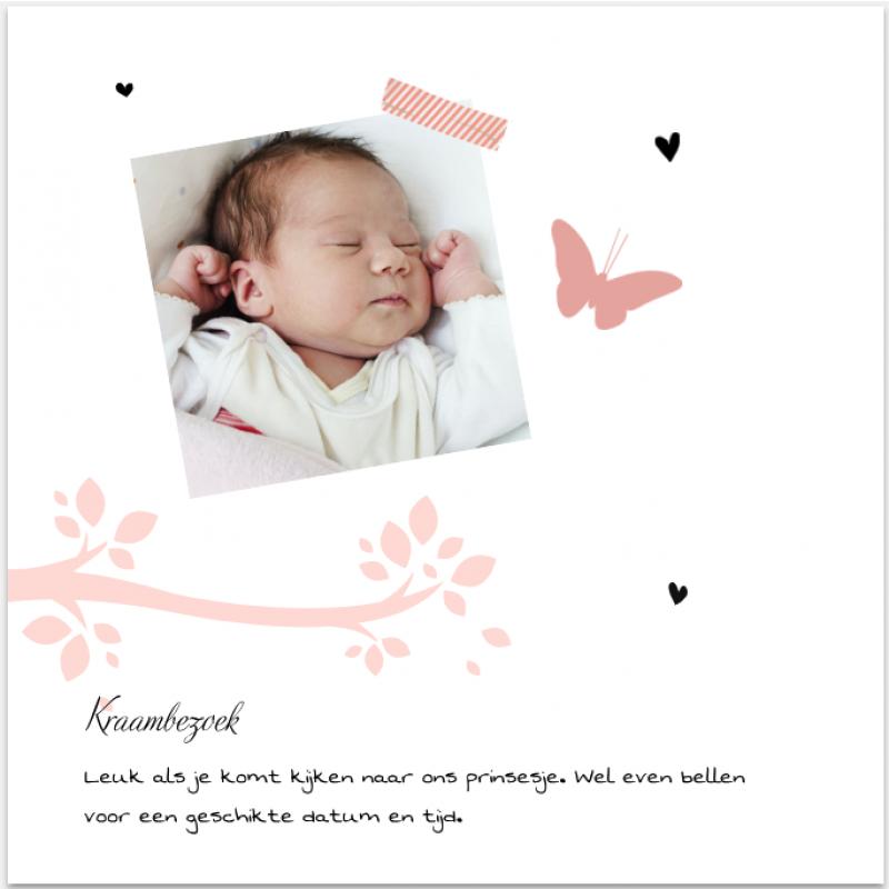 Geboortekaartje Geboortekaartje meisje Uil