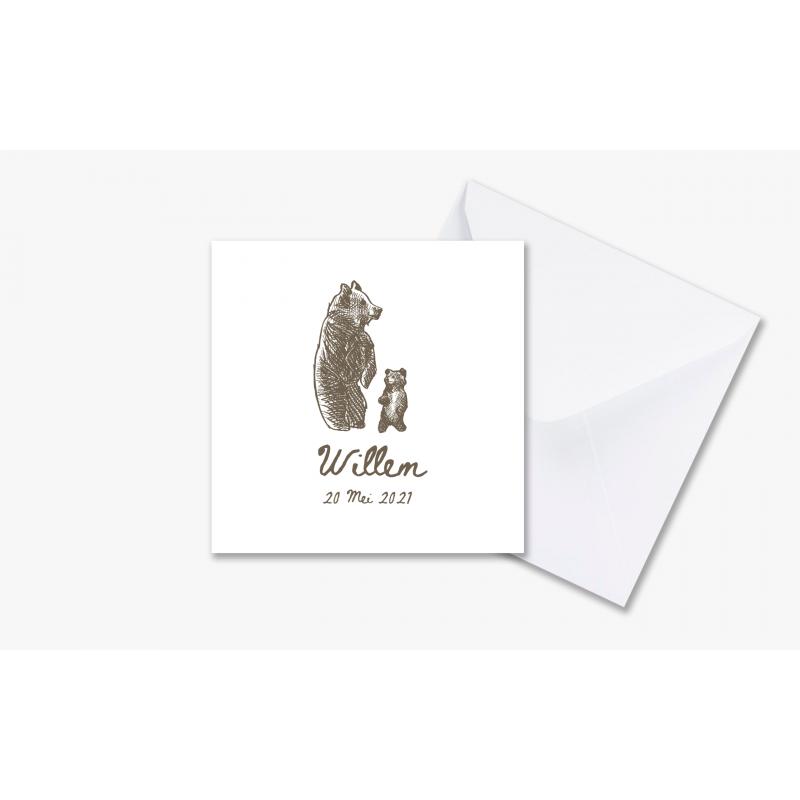 Geboortekaartje Geboortekaartje met beer