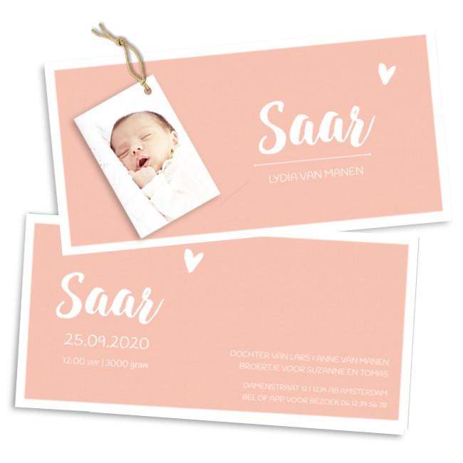 Geboortekaartje Geboortekaartje met foto