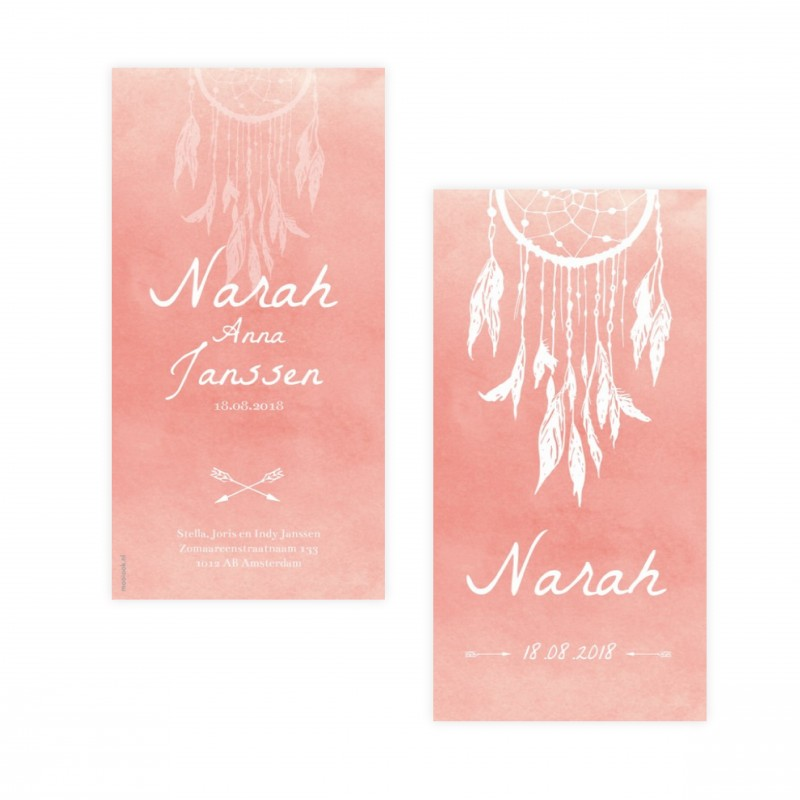 Geboortekaartje geboortekaartje - Narah