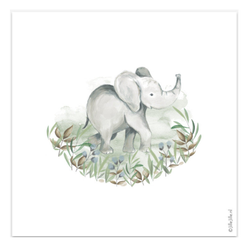 Geboortekaartje Geboortekaartje olifant