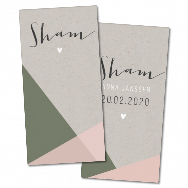 Geboortekaartje geboortekaartje - Sham
