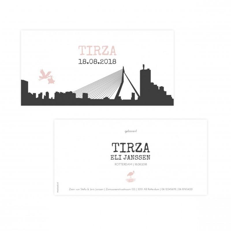 Geboortekaartje Geboortekaartje - Tirza