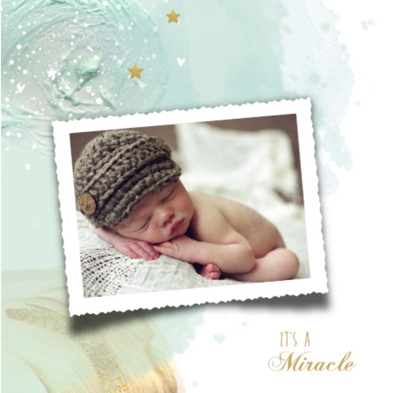 Geboortekaartje Geboortekaartje Verf