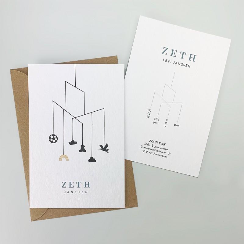 Geboortekaartje Geboortekaartje Zeth