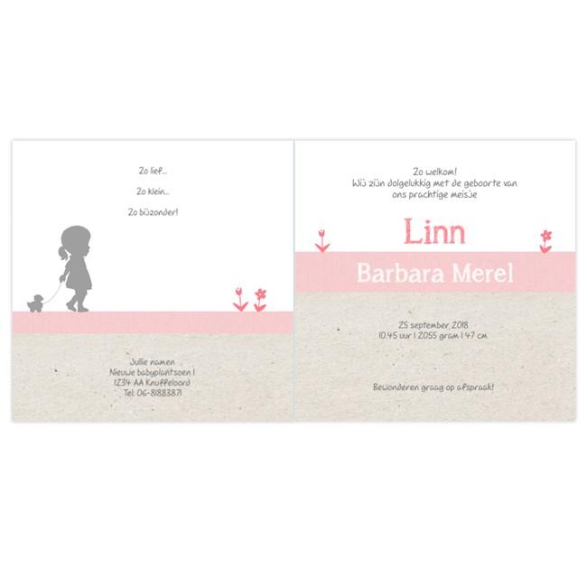 Geboortekaartje Geboortekaartje zusjes