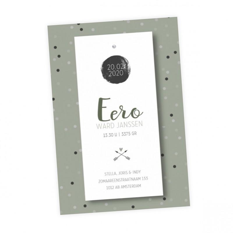 Geboortekaartje Geboortelabel - Eero