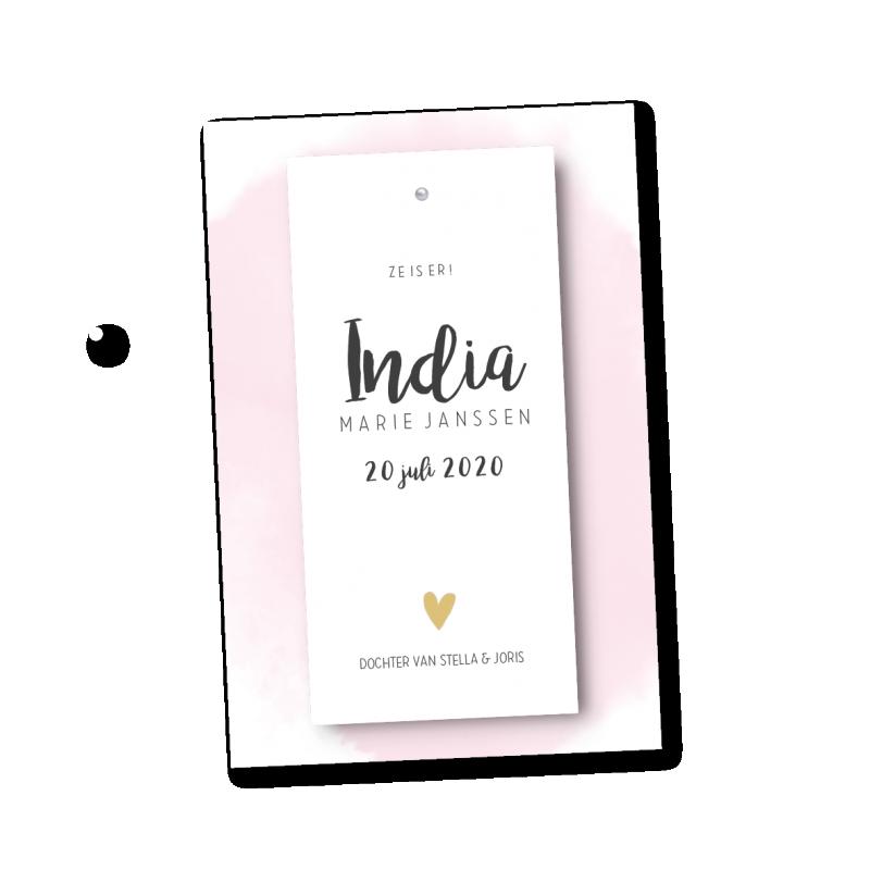 Geboortekaartje Geboortelabel - India