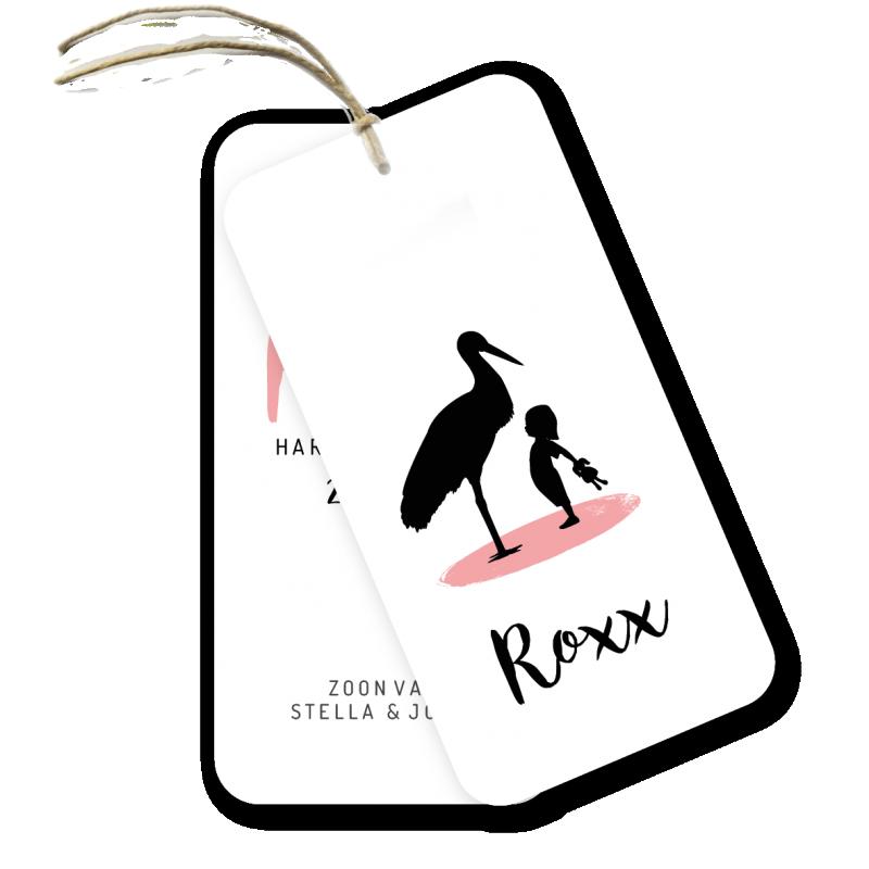 Geboortekaartje Geboortelabel - Roxx