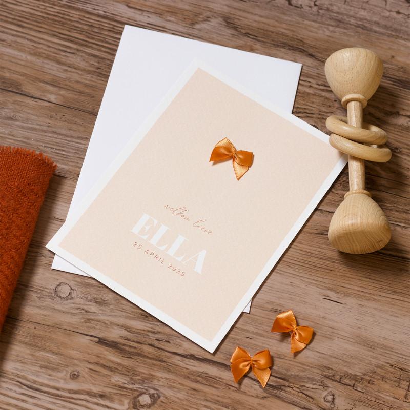 Geboortekaartje Ginger strikje