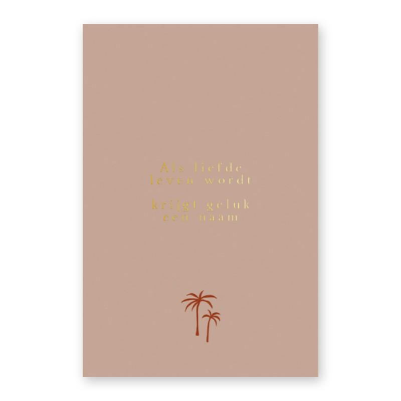 Geboortekaartje Goudfolie en woestijn