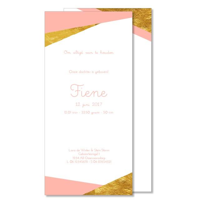 Geboortekaartje Goudkleurig  |  Fiene