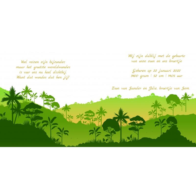 Geboortekaartje Groene jungle