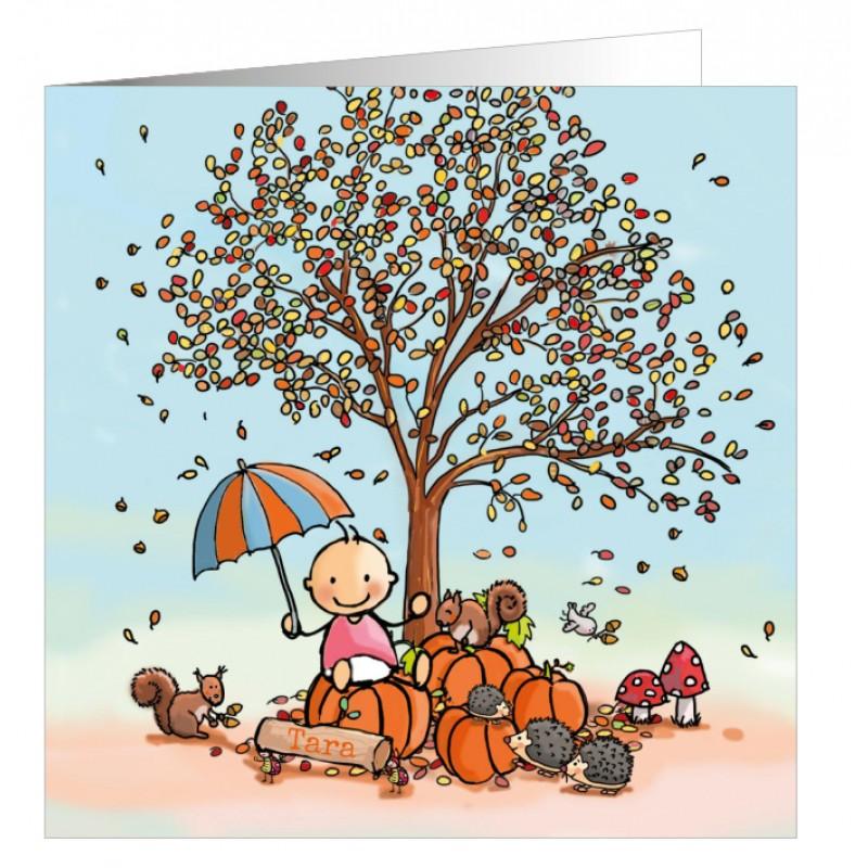 Geboortekaartje Herfst