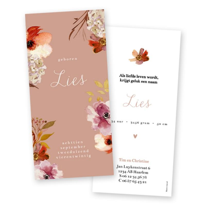 Geboortekaartje Herfstbloemen