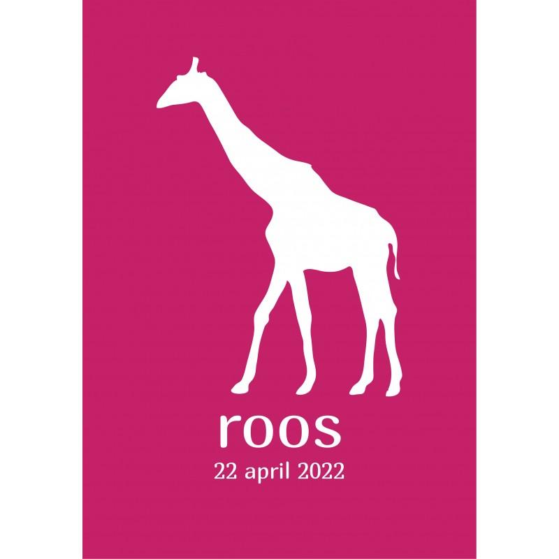 Geboortekaartje Hip kaartje giraffe