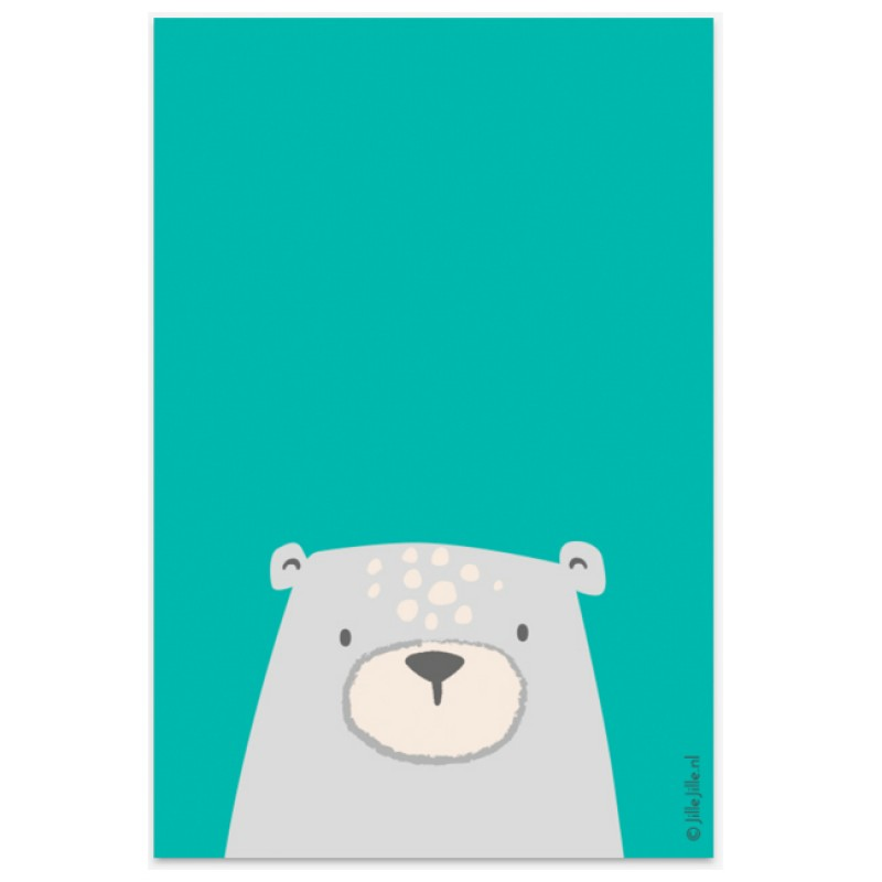 Geboortekaartje Hippe geboortekaart beer