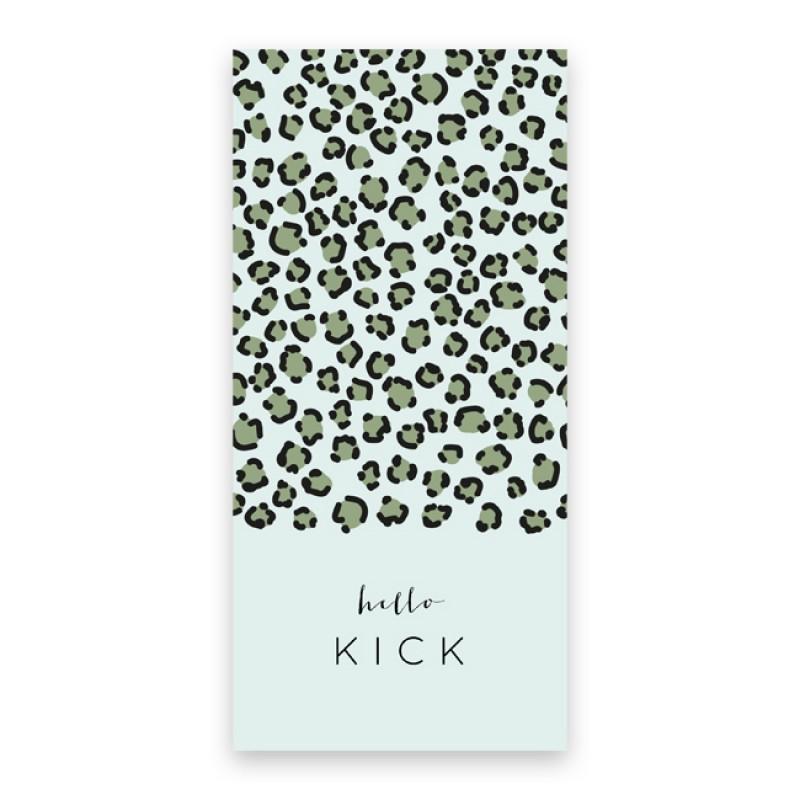 Geboortekaartje Hippe panterprint