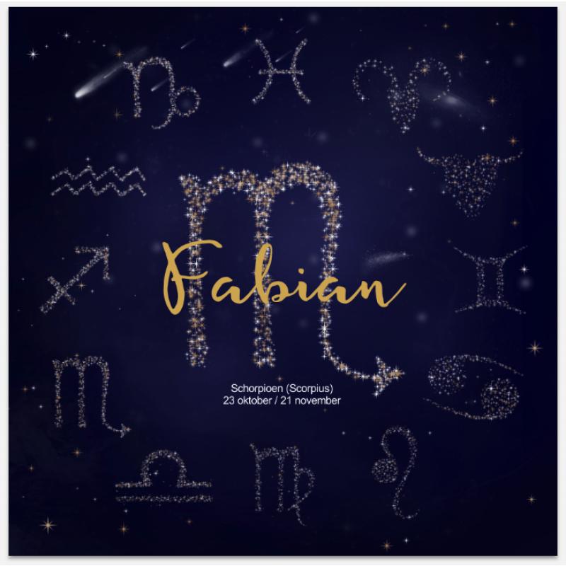 Geboortekaartje Horoscoop kaartje