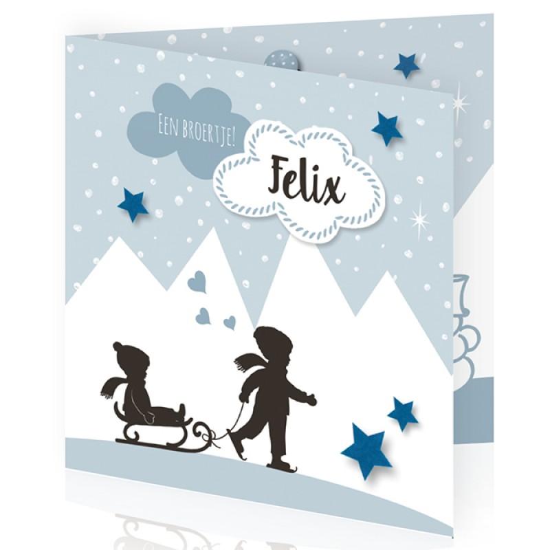 Geboortekaartje In de sneeuw