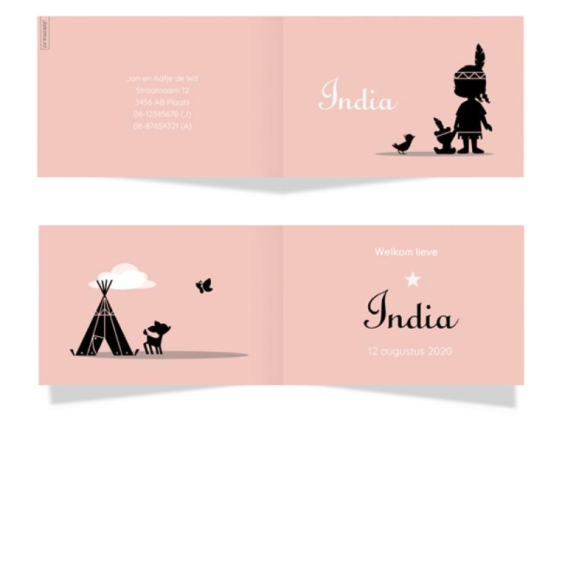 Geboortekaartje indiaantje