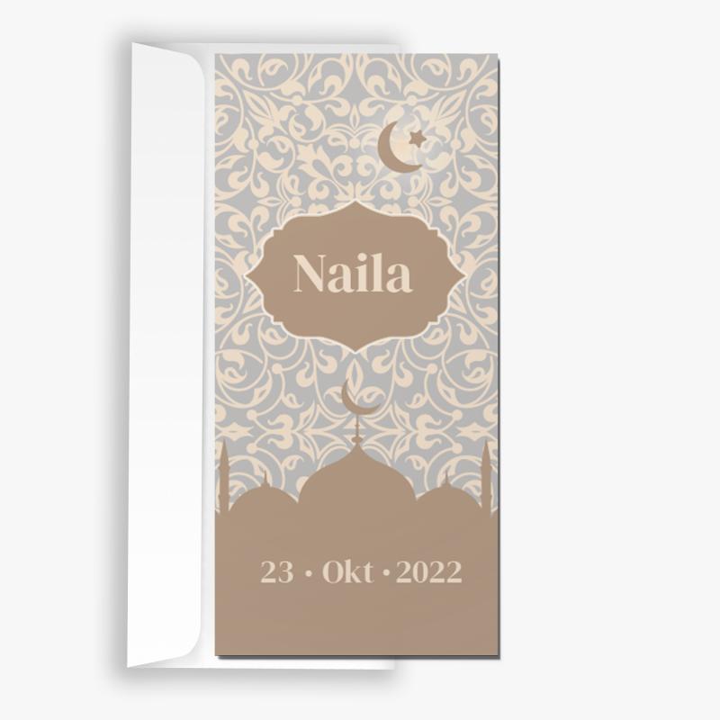 Geboortekaartje islamitische tempels