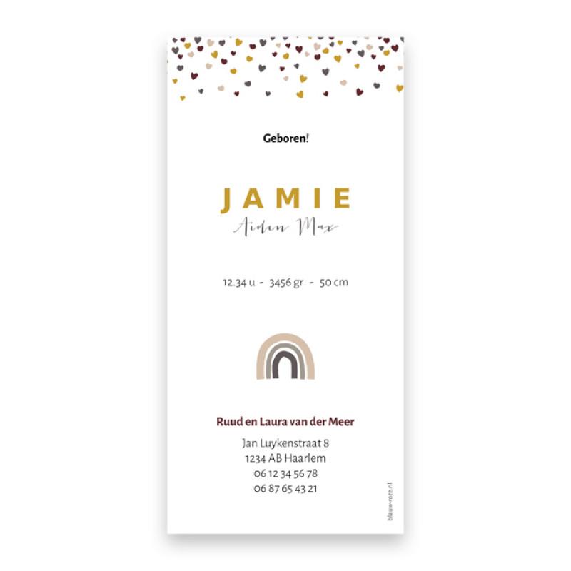 Geboortekaartje Jamie