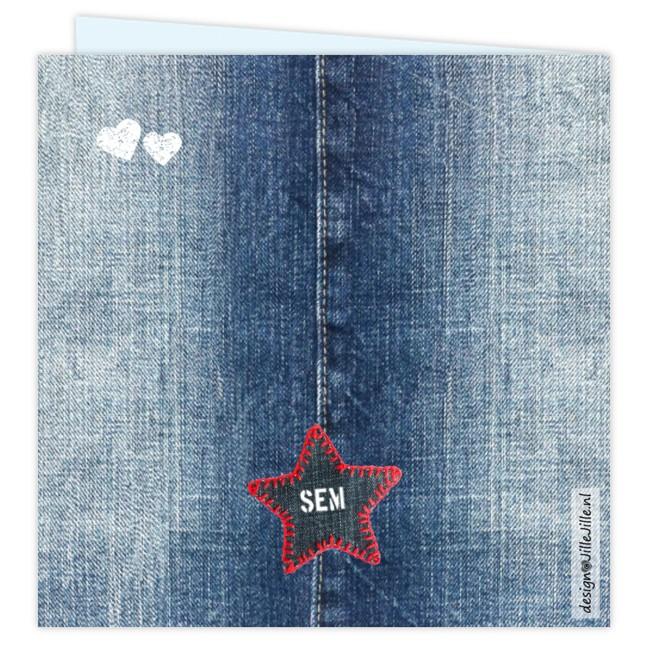 Geboortekaartje Jeans geboortekaartje