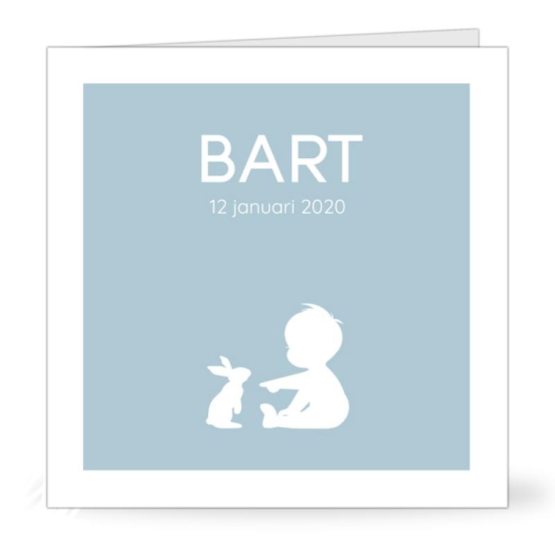 Geboortekaartje Jongen met konijn