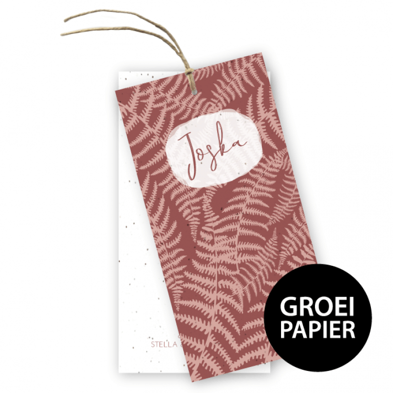 Geboortekaartje Joska groeipapier label