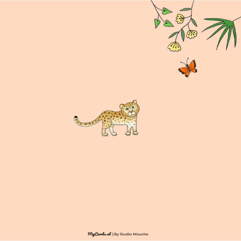 Geboortekaartje Jungle dieren