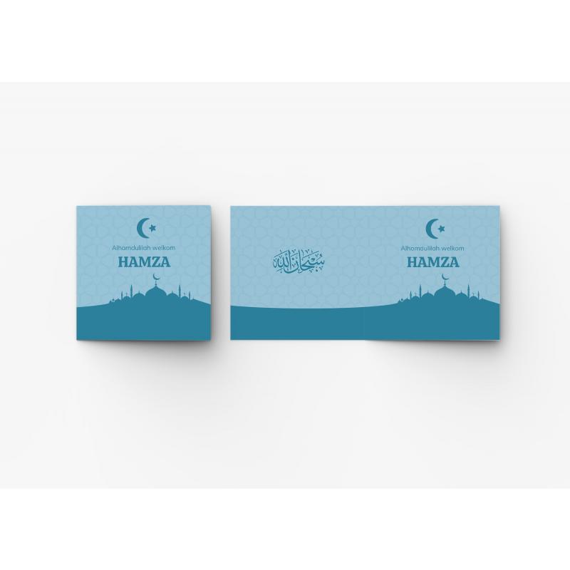 Geboortekaartje Kaart blauwe moskee