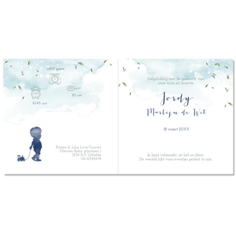Geboortekaartje kaart broertjes  en zusjes