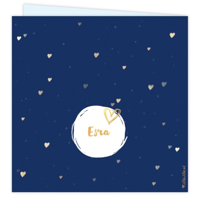 Geboortekaartje Kaartje hartjes confetti