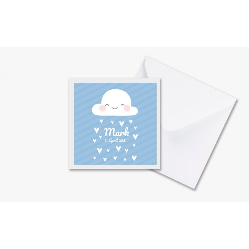 Geboortekaartje Kaartje met blije wolk