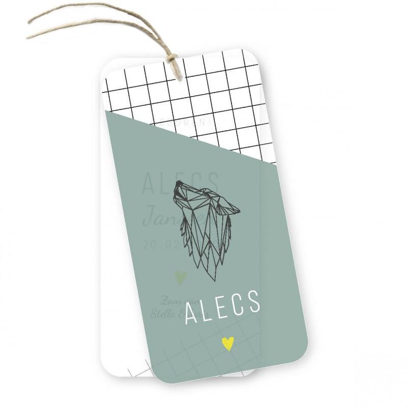 Geboortekaartje Kalklabel - Alecs