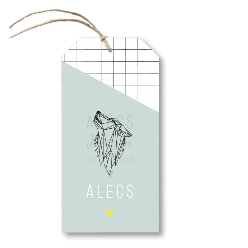 Geboortekaartje Kalklabel Alecs