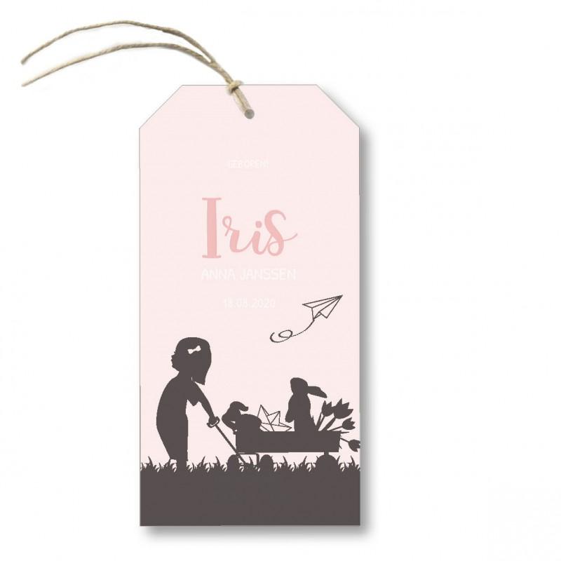 Geboortekaartje Kalklabel - Iris