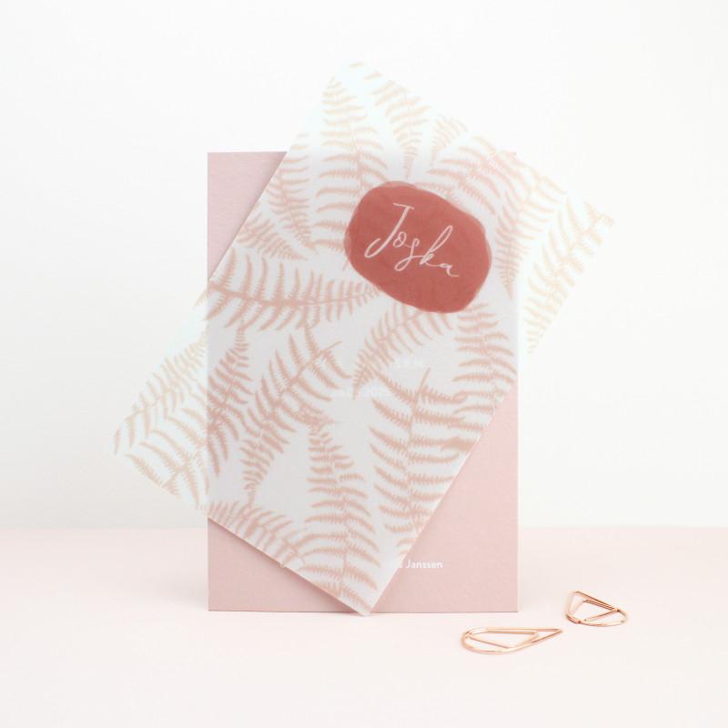 Geboortekaartje Kalkpapier label kaartje