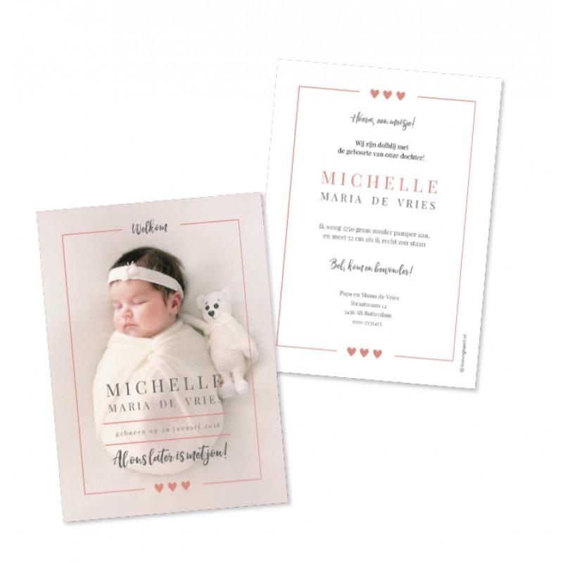 Geboortekaartje Klassiek met foto